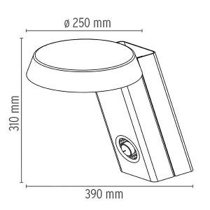 Mod. 607 Lámpara Flos medidas