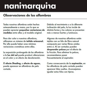 garantía Nanimarquina alfombra  Rabari 4