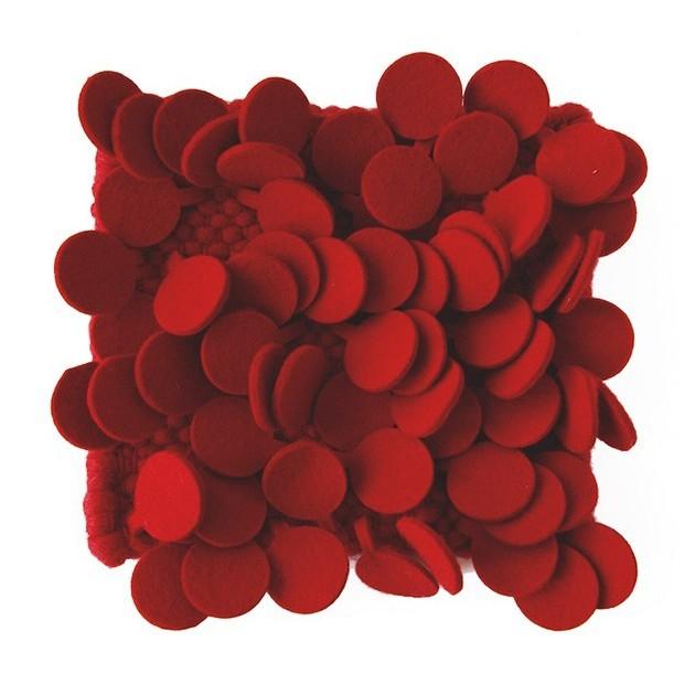 detalle tejido Alfombra Roses color rojo Nanimarquina