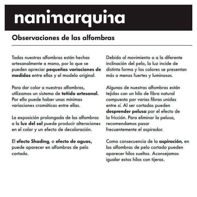 Alfombra News Nanimarquina artesanal
