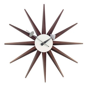 Reloj Sunburst Clock Nogal - Vitra